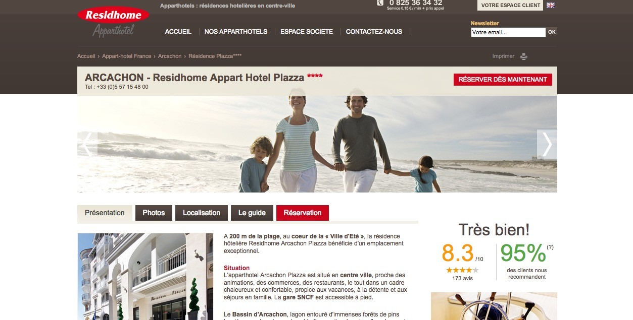 R sidhome apparthotel arcachon plazza escale arcachon for Residhome appart hotel
