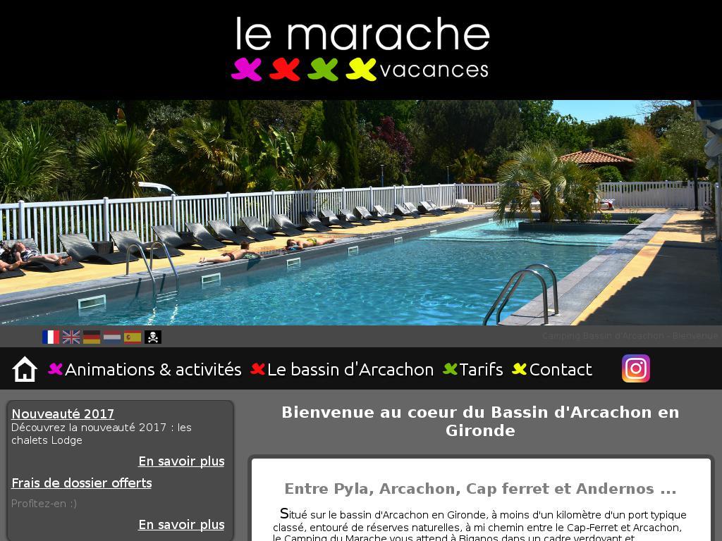 Camping Le Marache Vacances Escale Arcachon