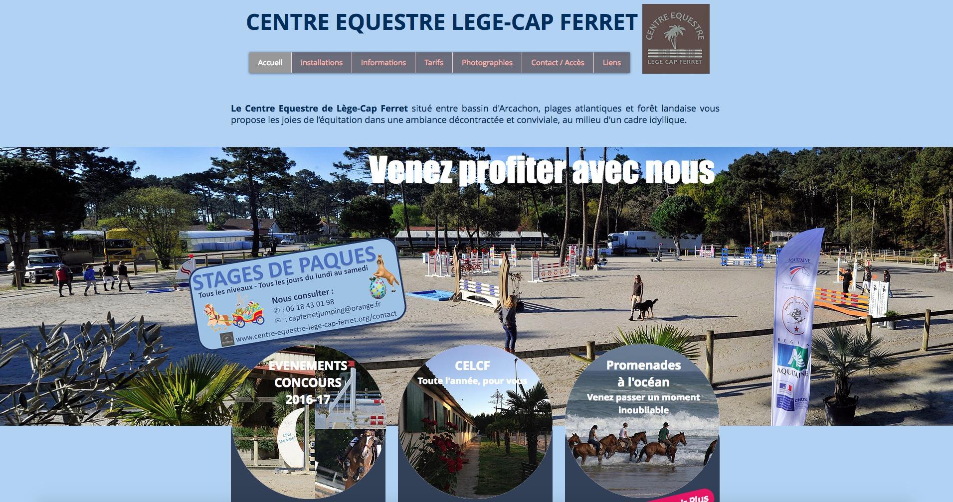Centre questre de l ge cap ferret escale arcachon - Lege cap ferret office de tourisme ...